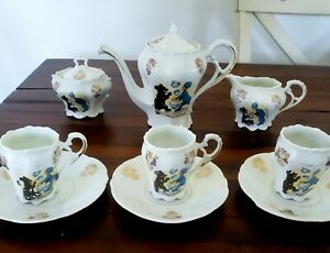 ANTIQUE CHILDRENS BUDDY TUCKER TEA SET  1905-Early Comic Character