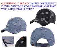 C.C Brand Unisex Distressed Denim Vintage Style Adjustable Baseball Cap Hat