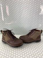 Dr. Martens BONNY II Brown Leather/Nylon Lace Up Ankle Boots Men's 8  Women's 9