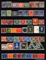 Netherlands 1872-1963 Mostly Mint Lot Queen Wilhelmina, Numerals 51 items