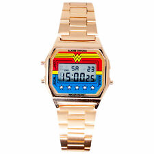 Wonder Woman Digital Watch with Gold Alloy Band Multi-Color