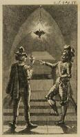 CHODOWIECKI (1726-1801). Zwei Ritter in einer Gruft; Druckgraphik