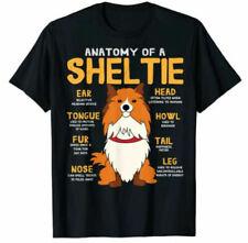 Sheltie Shetland Sheepdog Anatomy Funny Dog T-Shirt Tee Gift 2021