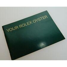 Your Rolex oyster livret