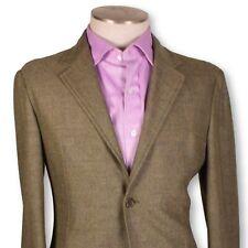 NWT BELVEST Light Green Herringbone Tweed Wool-Cashmere Softest Cut Jacket 40