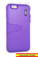 Funda Apple Iphone 6 / 6S protectora / bumper con soporte violeta morada lila