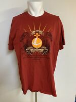 Monty Python Flying Circus L Large Red Graphic Tee T-Shirt Liquid Blue Licensed