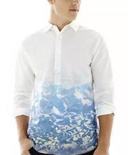 NWT Men's Walker Refinery White Mountains long sleeve Button Down Shirt Sz Large