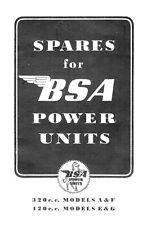 (0452) BSA Power units models A F E G Parts book