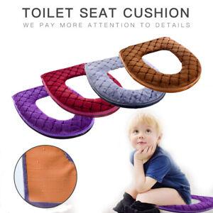 Bathroom Toilet Seat Closestool Washable Soft Warmer Pad Cushion Cover Mat