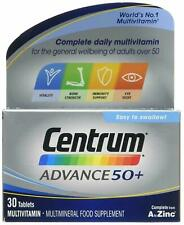 Centrum Advance 50+ 30 Tablets For Adults Daily Multivitamin and Minerals