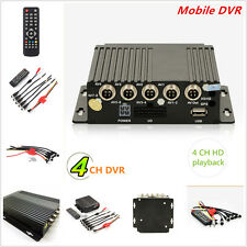 4CH Car Vehicle School Bus RV Ambulance AHD Mobile HD DVR Realtime Video/Audio