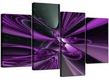 Large Purple Abstract Canvas Art Pictures 130cm Wide XL Print Set 4018