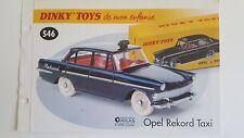 Dinky Toys Atlas - Fascicule SEUL de l'Opel Rekord Taxi (Booklet only)