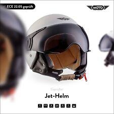 CASCO Demi-JET Cuero PILOTO Vespa Scooter Helmet MOTO H44 M. White XS S M L XL