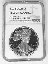 SKU #19958 2004-W Proof Silver American Eagle PF-69 NGC