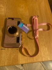I phone case rose gold fits 6 7 or 8 Plus camera look new with tags cute!