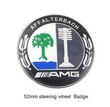 AMG steering wheel Emblem Badge Logo Sticker Decal 52mm Aluminum