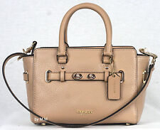 Coach F37635 Mini Blake Carryall In bubble leather Beechwood or Brown