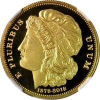 Smithsonian PROOF 1878-2018 Morgan $10 Eagle FINE gold. PF70 UC NGC 228 COA SALE