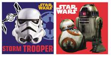 2 x Official Star Wars Face Towel / Cloth 30 x 30cm - R2-D2 - Stormtrooper