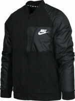NIKE NSW AV ADVANCE 15 BOMBER SQUADRON TRACK JACKET 846878 BLACK MEN'S MEDIUM