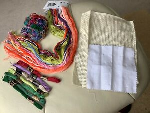 Embroidery Cross Stitch Threads Mixed. Bundle Job Lot used