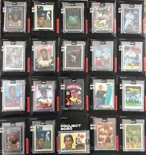New listing Topps Project 2020 ~20 Card Lot~ 🔥Resealable Sleeves And Black Boxes 🔥