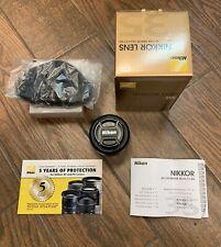 Nikon Nikkor 35mm AF-S DX F/1.8G AF-S DX Lens w/ Box & Booklet