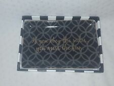 Rosanna Chic Accent Tray If You Obey the Rules You Miss The Fun-K. Hepburn Quote