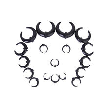 Tunnel Ear Stretcher Expander Plugs 9Pairs Acrylic Spiral Buffalo Horn Taper