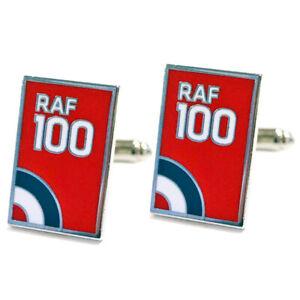RAF100 Logo cufflinks silver box Royal Air Forces Association
