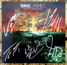 NINE LASHES From Water To War Ltd Ed Signed By All 4 CD Booklet+Album+Stickers!