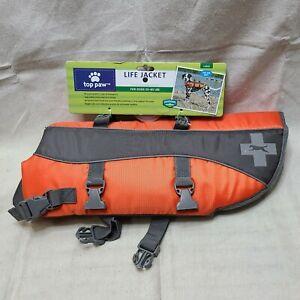 NEW NWT Top Paw Dog Life Jacket Vest Large Orange **BENEFITS ANIMAL RESCUE**