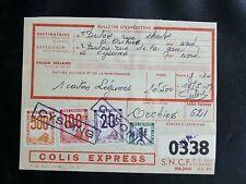 FRANCE COLIS POSTAUX : 1944/54 YVERT N° 1 + 23A + 25 + 29 Surchargé SPECIMEN DOC