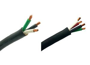 WindyNation 6/3 or 6/4 6 Gauge AWG SOOW Cable Wire Cord Portable Power 600V