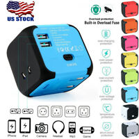 AU/UK/US/EU Universal Travel AC Power Charger Adapter Plug Converter w/ Dual USB