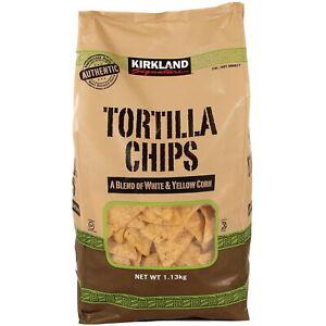 Kirkland Signature Tortilla Chips Real Ground Corn Snack Crisp Pack of 1.13kg