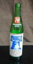 Vintage 1976 Bicentennial Liberty Bell Commemorative 7up Bottles