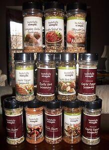 Tastefully Simple Spice Seasonings - Factory Sealed - Variety - FREE SHIPPING !!