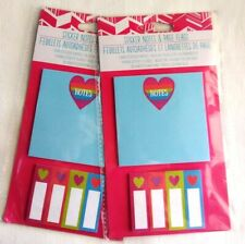 2 Packages Sticky Notes & Page Flags - Hearts - New in Package