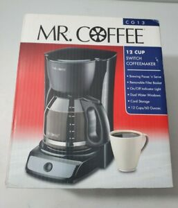 Mr. Coffee Simple Brew 12-Cup Switch Coffee Maker Black New