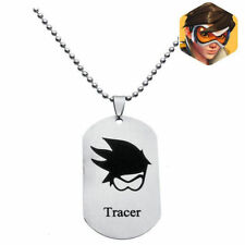 DZ1179* Overwatch Logo Alloy dog tag Necklace Pendant Chain Cosplay ~tracer