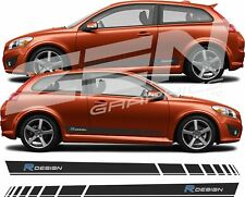 Volvo C30 R Design Side Stripes Graphics Decals Stickers any colour
