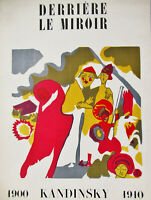 KANDINSKY -  DERRIERE LE MIROIR (COVER) - LITHOGRAPH - FREE SHIP IN THE US !!!