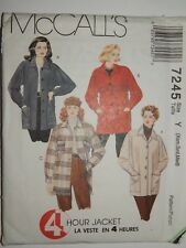 Jacket Boxy Sewing Pattern McCALLS 7245 UC FF VTG XS S M Wool Denim Flannel +