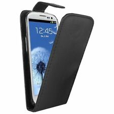 BLACK Leather Mobile Phone Samsung GT-i9300i Galaxy S3 Neo - Case Cover Pouch