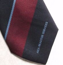 AEA REACTOR SERVICES COMPANY TIE 1980s 1990s VINTAGE CORPORATE BURGUNDY NAVY