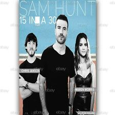 Custom Sam Hunt 15 In A 30 Tour Silk Poster Wall Decor 20x13 Inch