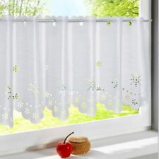 6 Size Cafe Panel Kitchen Made Voile Net Curtains Bathroom Ready Available